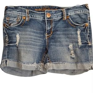 Vanity Premium Jean Shorts Distressed Cuffed Sz 29